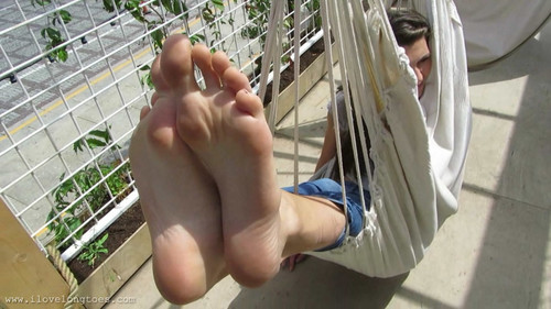 Relax time in hammock