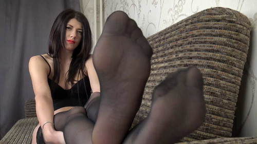 Nikki - shoes and stockings teasing in lingerie Full HD