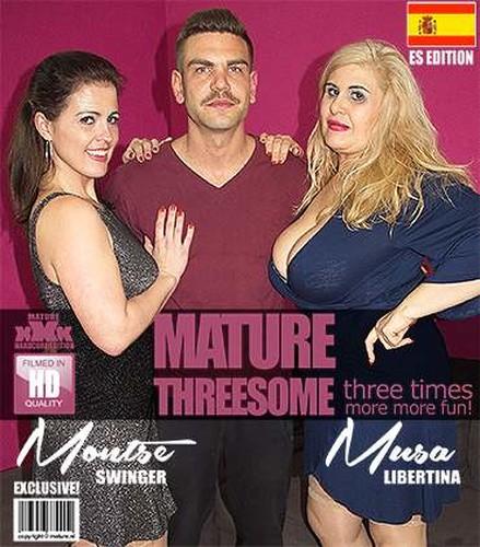 Spanish housewives Montse Swinger and Musa Libertina having a threesome - Montse Swinger (EU) (39), Musa Libertina (EU) (53) (Mature.nl-2018)