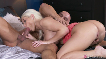 Blanche Bradburry - Hot creampie served up for blonde, HD