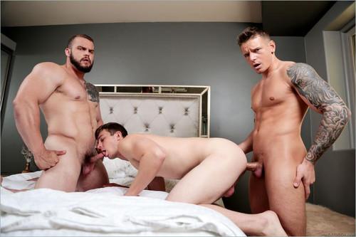 NextDoorRaw – Sexscape (Gunner, Nathan Styles & Dax Carter) Bareback