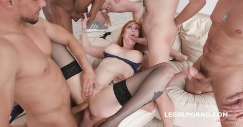 LegalPorno.com - 7on1 Double Anal Gangbang with Lauren Phillips Balls Deep Anal & Dap, Big Gapes, Airplane, Facial GIO708