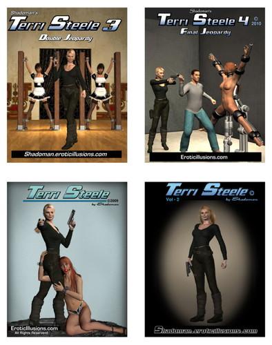 Terri Steele - Vol.1-Vol.4 Cover