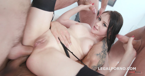 LegalPorno.com - Fucking Wet With Kiara Gold Balls Deep Anal / DAP / Gapes / Pee drink / Swallow GIO618