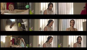 Georgina Leeming bathtub nude boobs show in Virgin