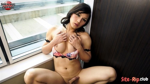 Rion Strokes By Window - Rion Kawasaki - tgirljapan.com