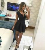 Sexy girls in minidress