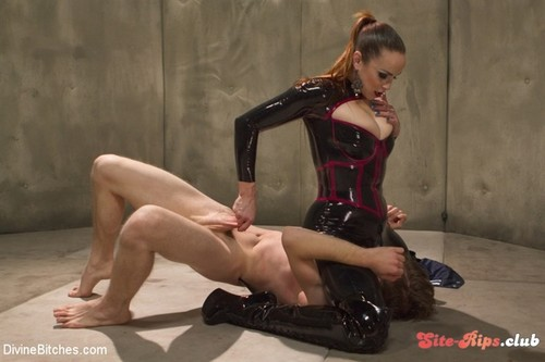Bella Breaks in a New Toy at the Divine Bitches Milking Facility! - Bella Rossi - kink.com
