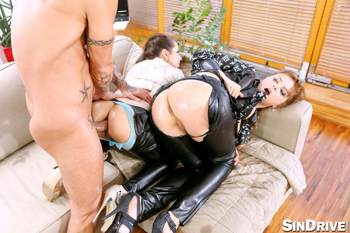 SinDrive.com - Ferrera Gomez, Marina Visconti - Leatherized Glam Part 2: In Comes The Dick To Rip Some Ass And Leather!