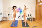 Luna Corazon Tina Kay Yoga girls interracial threesome 114 pics 2667x4000