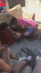 Spanish Teen S Pussy Liked Out While Friends Watching Outdoor