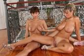 Veronica & Milly - Big Tit Lesbians Having Some Fun