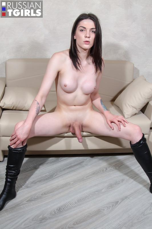 Alexandra Strokes Her Appetizing Cock! (26 September 2018)