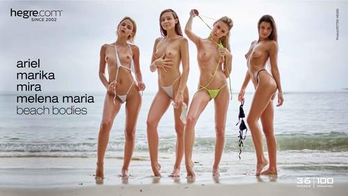 Hegre Ariel & Marika & Mira & Melena Maria Beach Bodies
