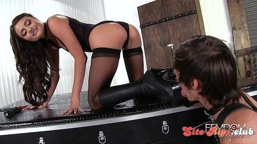 Stiletto Boot Sucker - Adria Rae - femdomempire.com
