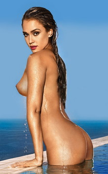 Jessica Alba naked unpublished uncensored Maxim magazine photo shoot HQ
