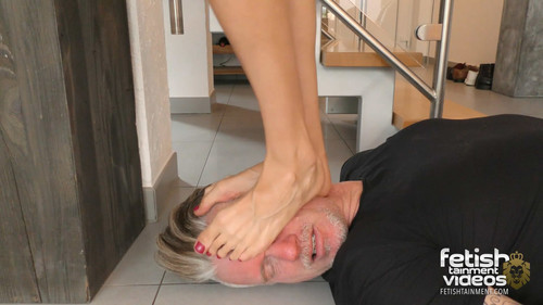 Miss Lilly tramples him full weight under her flip flops and her bare feet - FULL HD WMV
