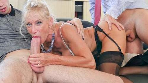Busty French mature Marina Beaulieu enjoys anal sex with DP in threesome - Marina Beaulieu (PornoAcademie.com-2018)