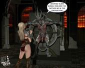 [XL3D] Hot elf lady has kinky sex with a demon