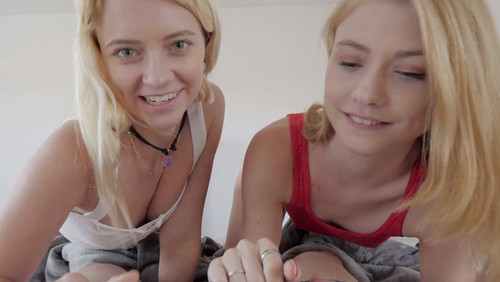 My Teen Sister and her BFF Share My Creampie