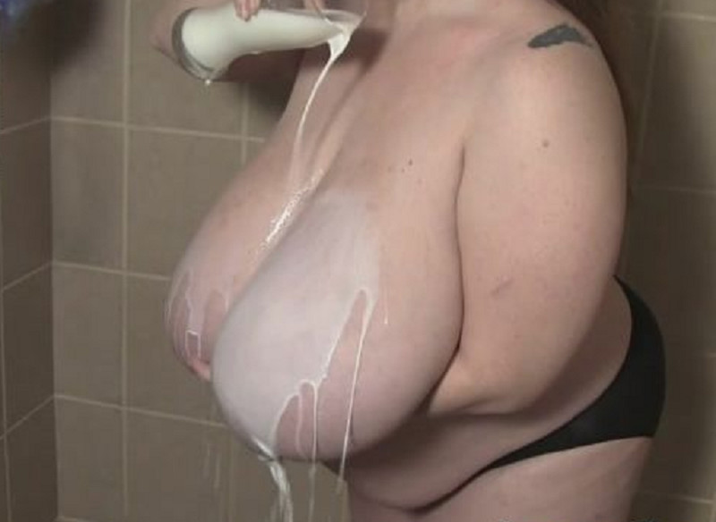 Milk Pouring Sploshing Shower