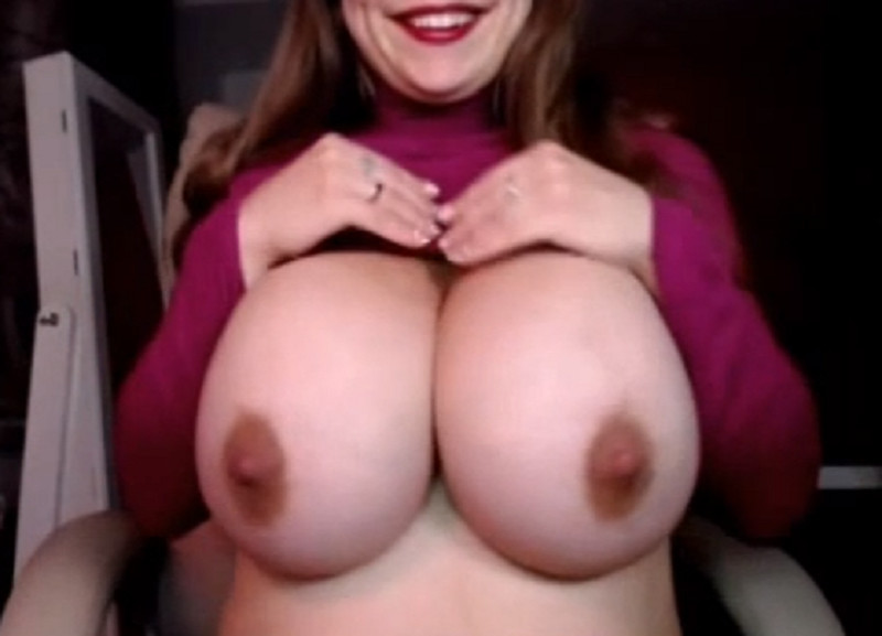 Nerdy Girl With Huge Milky Tits