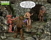 [XL-3D] Beautiful maiden gets gangbanged by mean trolls with big dicks