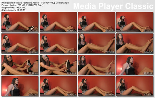 Felicia's Footslave Abuse - (Full HD 1080p Version)