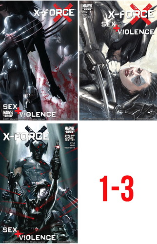X-Force - Sex and Violence 1-3 Cover