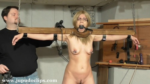 Punished Blonde Student