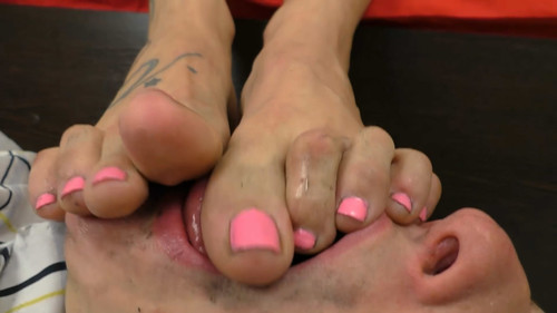 Lick And Swallow! Lesbo Slave! FULL HD