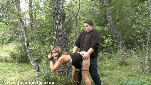Slut Fucking Deep In The Woods
