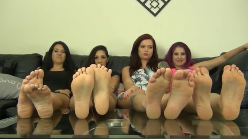 4 GIRL BRATTY FOOT HUMILIATION